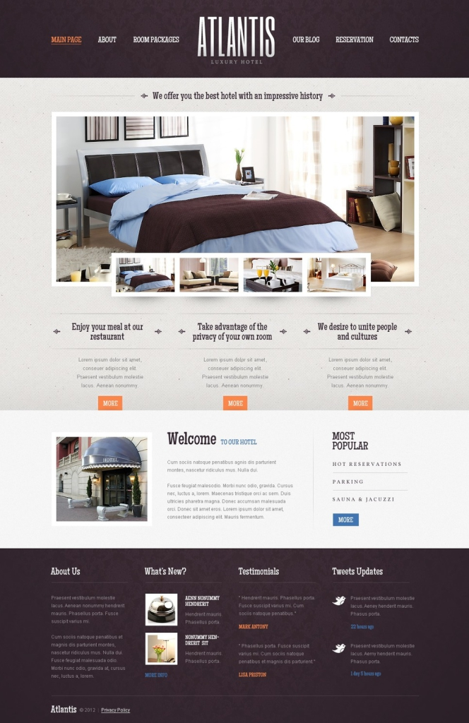 Hotels WordPress Theme (templatemonster.com)